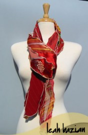 Mosaic Scarf in Red