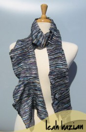 Multi Knit Scarf in Blue