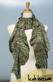 Multi Knit Scarf in Green