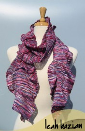 Multi Knit Scarf in Pink