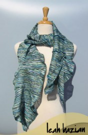 Multi Knit Scarf in Teal